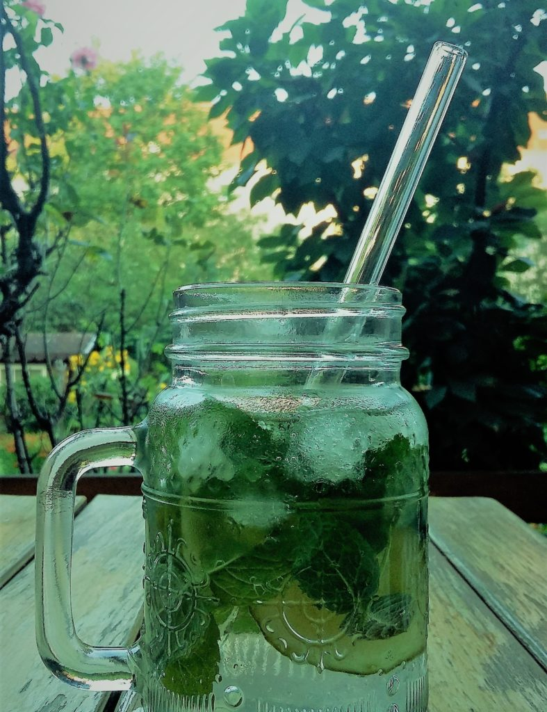 Erfrischungsgetränk mit HALM - der Glas-Strohhalm für mehr Nachhaltigkeit und ein besseres Trinkgefühl