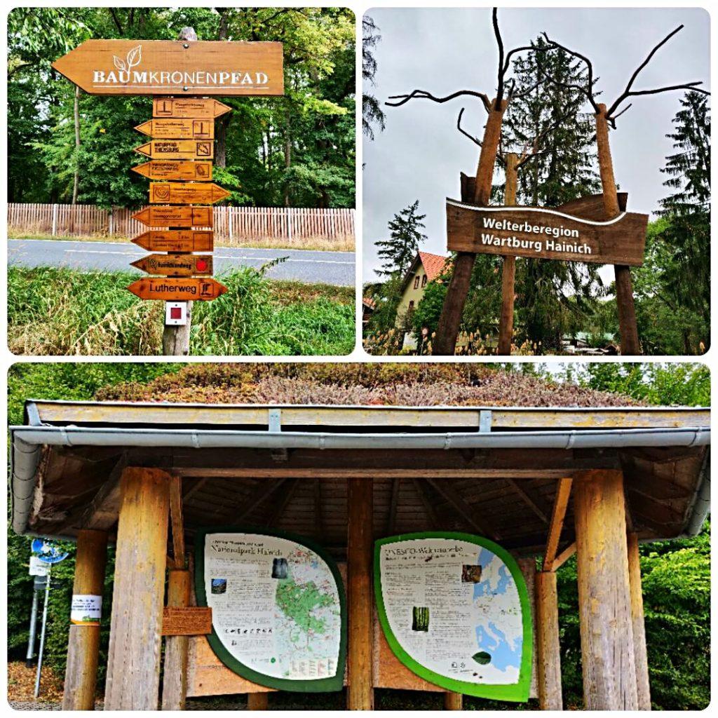 Eingang Baumkronenpfad im Nationalpark Hainich