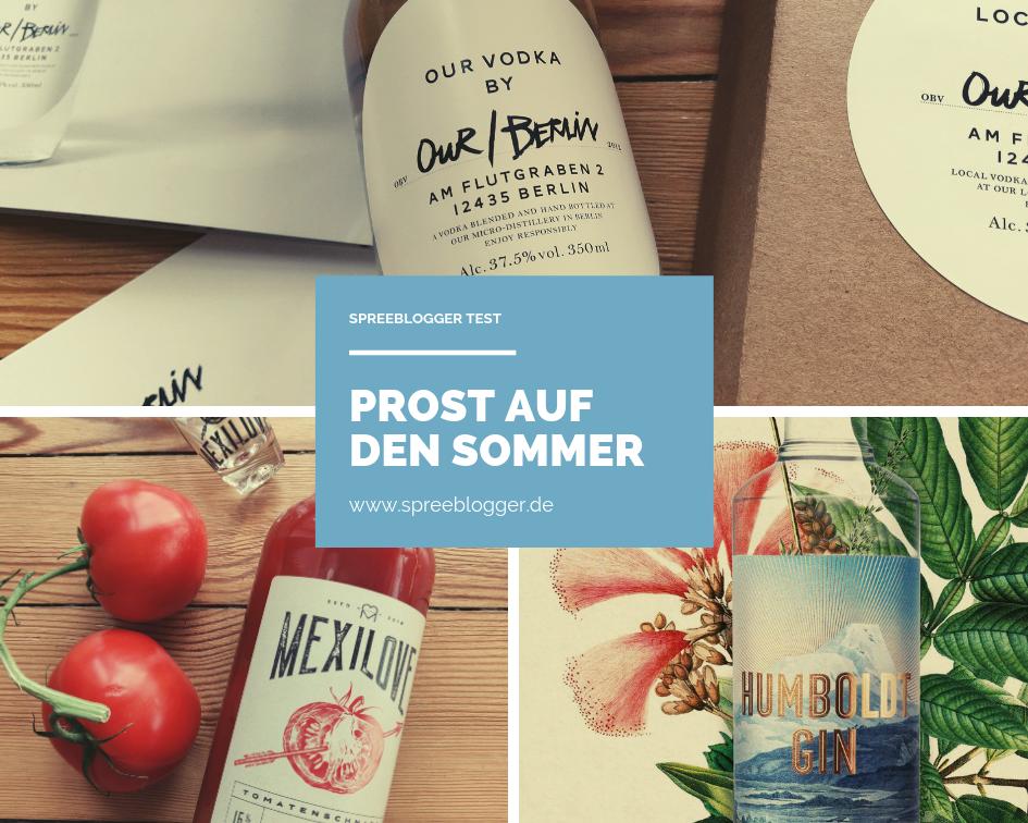Tomatenschnaps, Our/Berlin und Humboldt Gin - 3 Spirituosen für Berlin machen den Sommer perfekt.