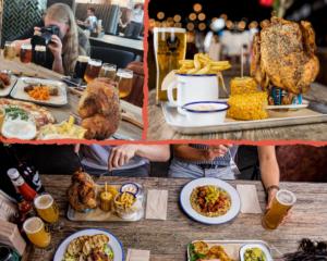 Instagramer at Work: Es wird nicht nur gegessen, was auf dem Tisch kommt - es wird vorher natürlich fotografiert - lecker Essen und Trinken im Restaurant DogTap Berlin.