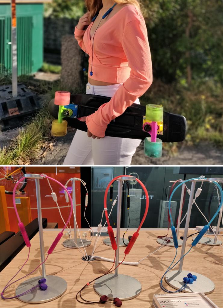 TCL Kopfhörer mit praktischem Nackenband der Linie SOCL in tollen Farben und Design