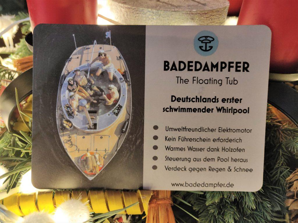 Der Badedampfer Berlin - Der Gutschein als Geschenketipp