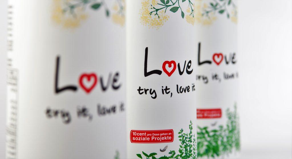 LOVE - das Wellnessgetränk für den guten Zweck