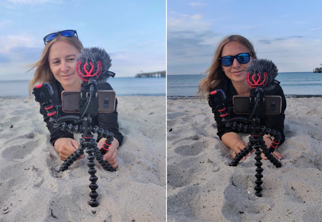Das Vlogging-Kit am Strand - erste Video-Aufnahmen und Test der Tonqualität -