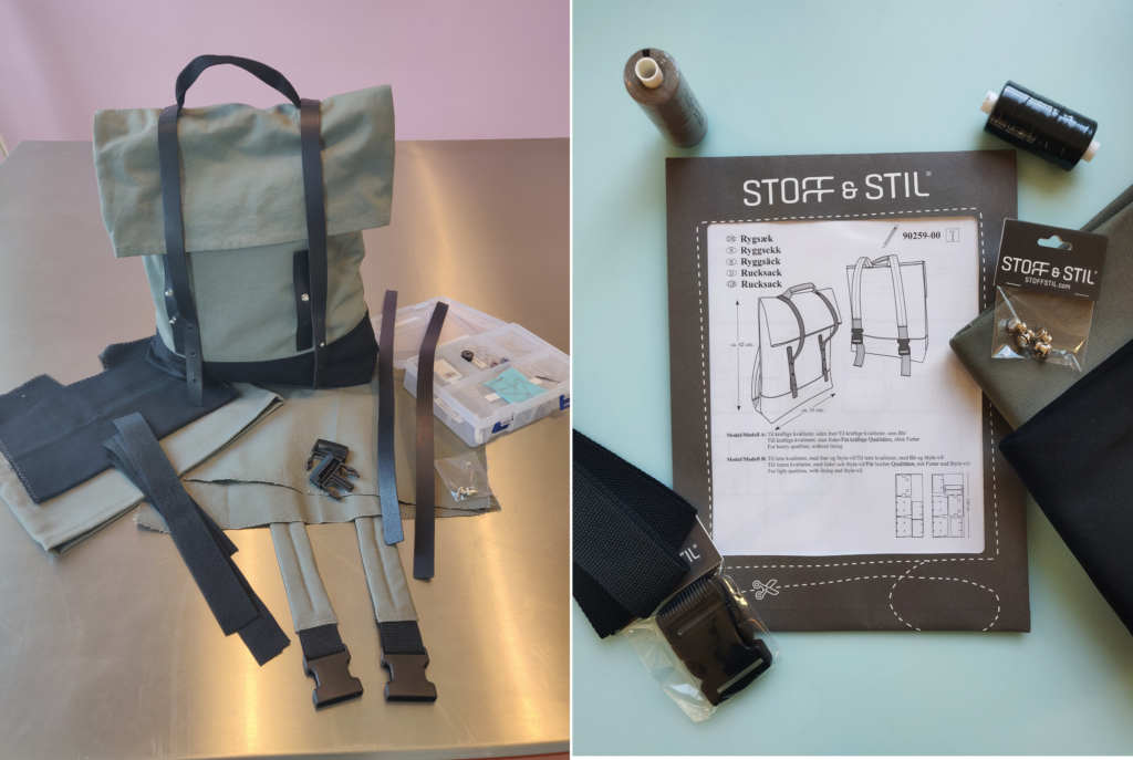 Das DIY Rucksack Kit - Die Anleitung mit den Teilen und Zubehör