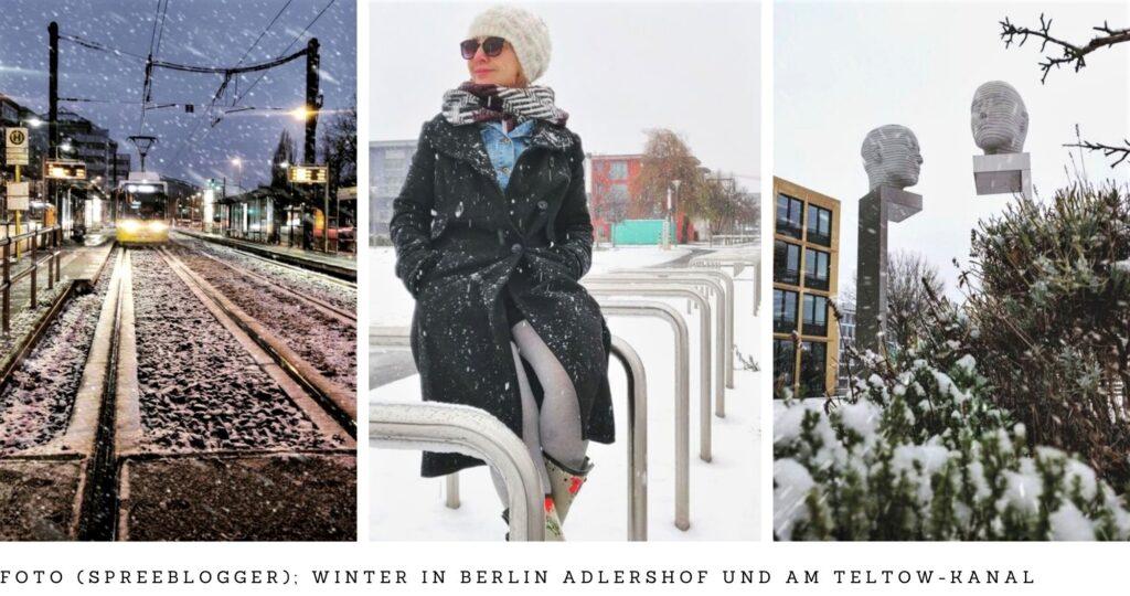 Schnee in Adlershof - Wissensstandort und Uni-Campus