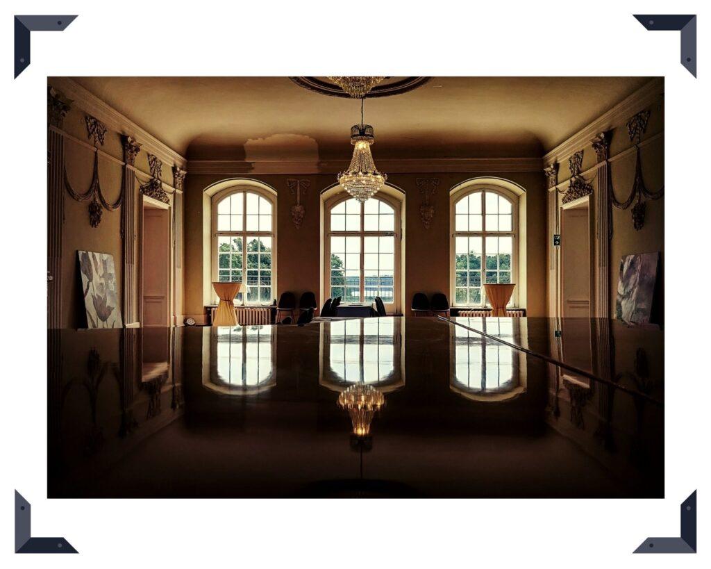 Hotel- und Eventschloss Vietgest - hier der prachtvolle Barocksaal des Hauses