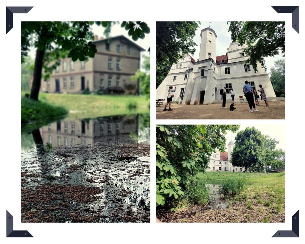 Wasserschloss Quilow umgeben von Wasser und Natur