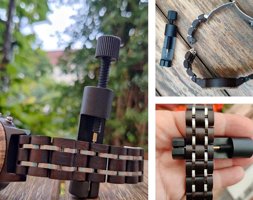 Foto (spreeblogger): Besonders praktisch ist die Stellschraube zum einfachen Kürzen des Armbands.